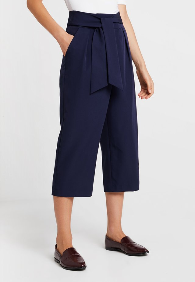 MEREDITH SOLID - Trousers - navy
