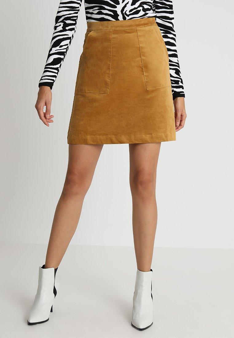 Louche - MENDEL - A-line skirt - mustard