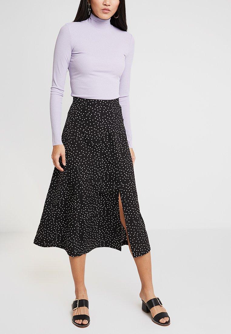 Louche - KIYO SPOT - A-line skirt - black