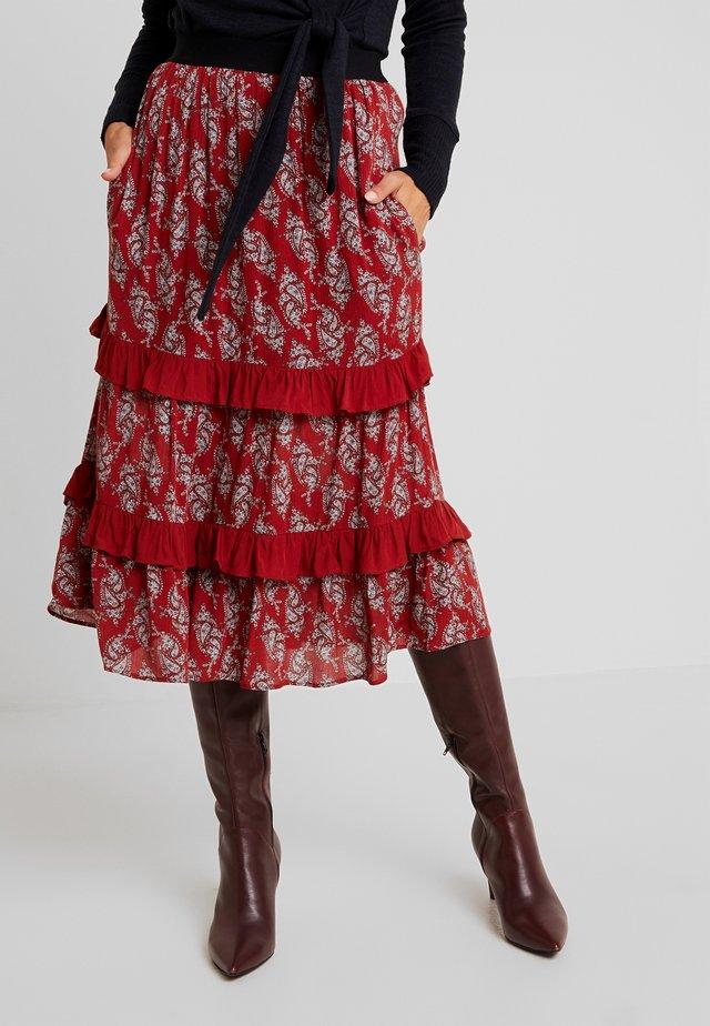 MACKENZIE PAISLEY - Áčková sukně - red