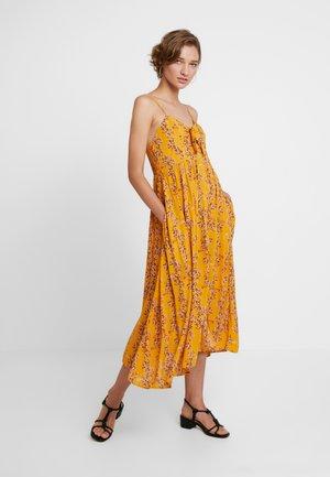 SIRIN FLORAL - Maxi-jurk - mustard