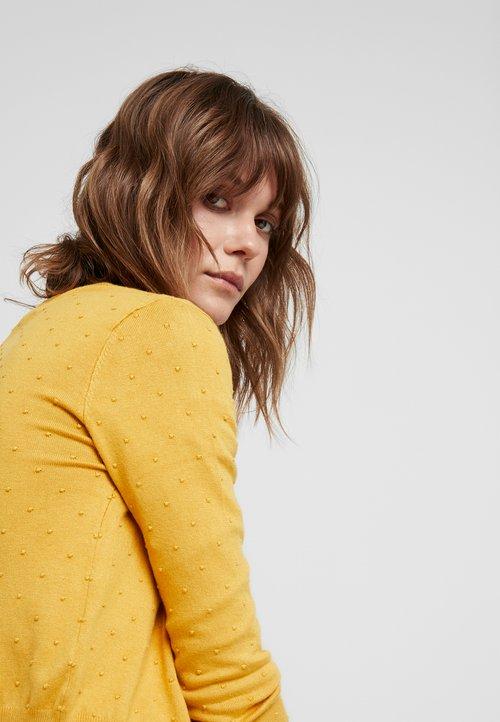 gorąca wyprzedaż w 2019 roku Louche IDIE SPOT - Kardigan - yellow Odzież Damska OSWP-LG2