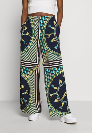 Pantalon classique - navy blue/multicolor