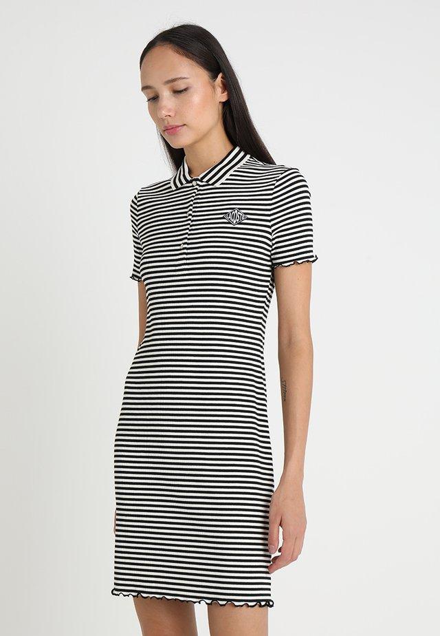 Jumper dress - mascarpone/black