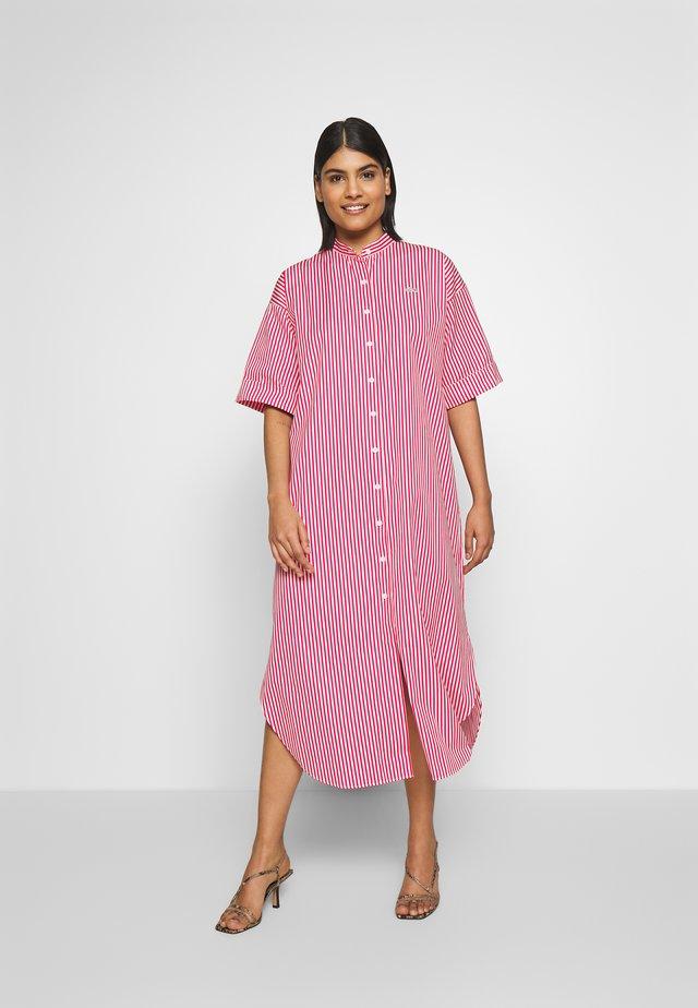 Shirt dress - flour/red