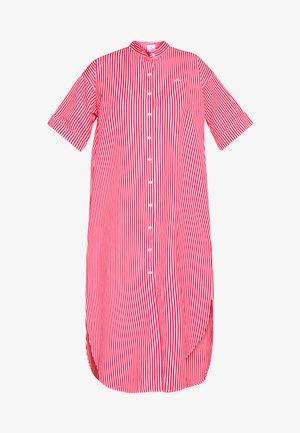 Košilové šaty - flour/red