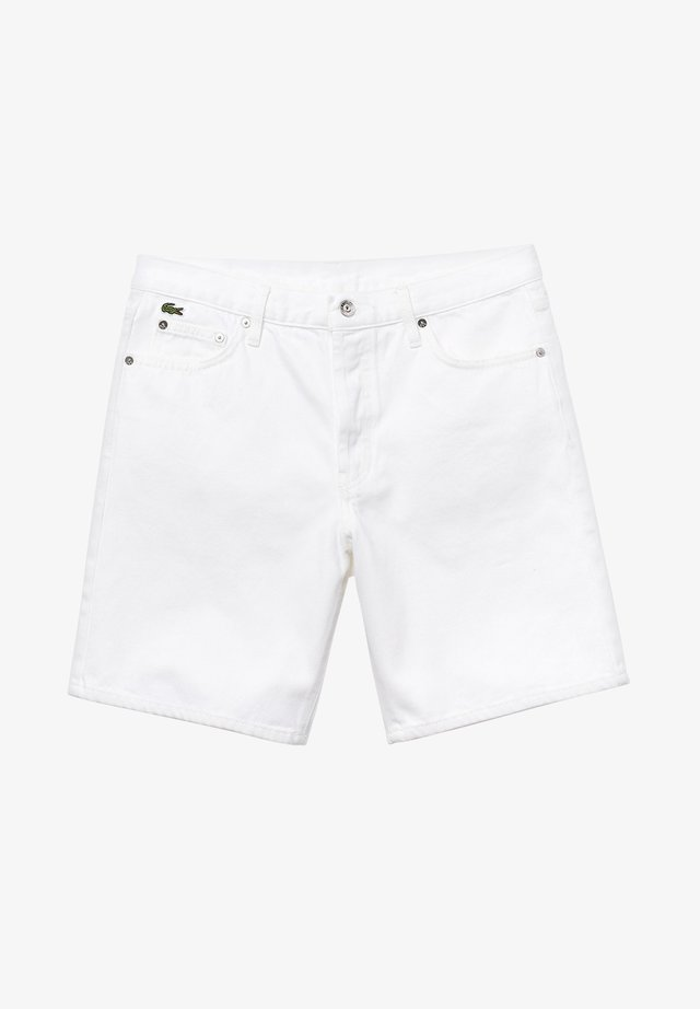 LACOSTE LIVE - BERMUDA HOMME - FH3947 - Jeansshort - white