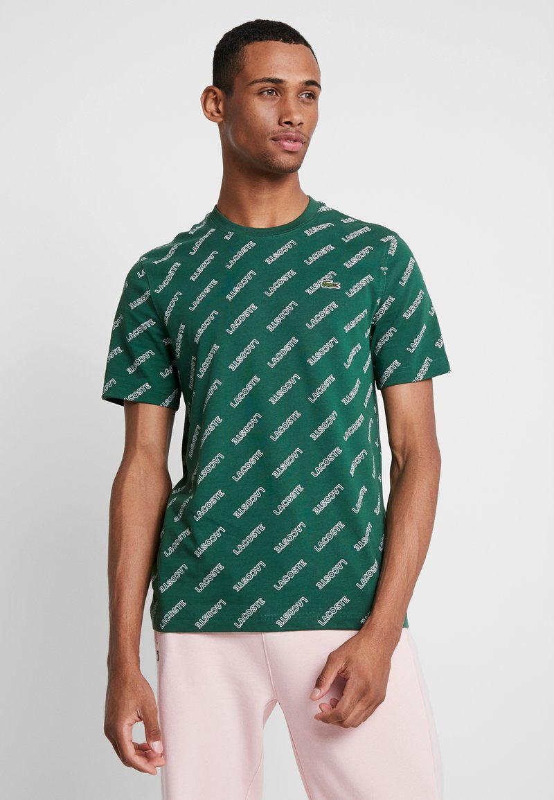 Lacoste LIVE - T-shirts med print - green/white