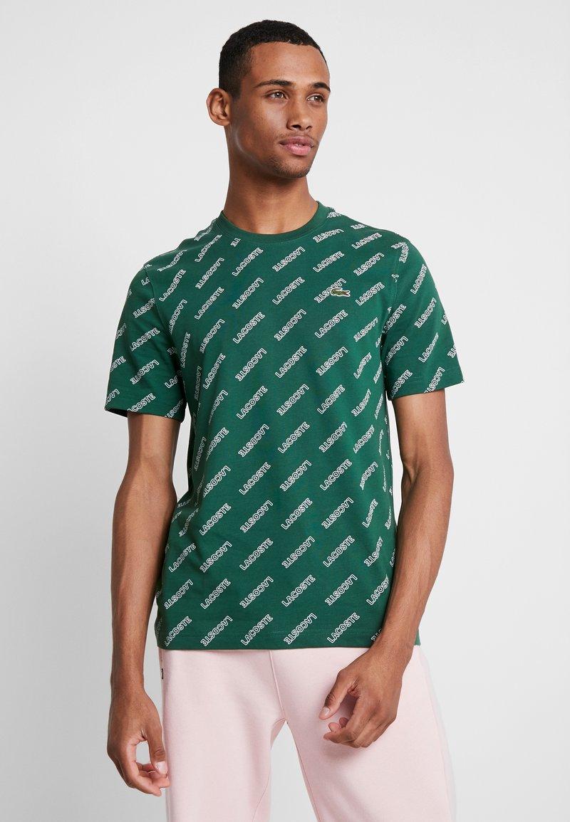 Lacoste LIVE - T-shirt imprimé - green/white