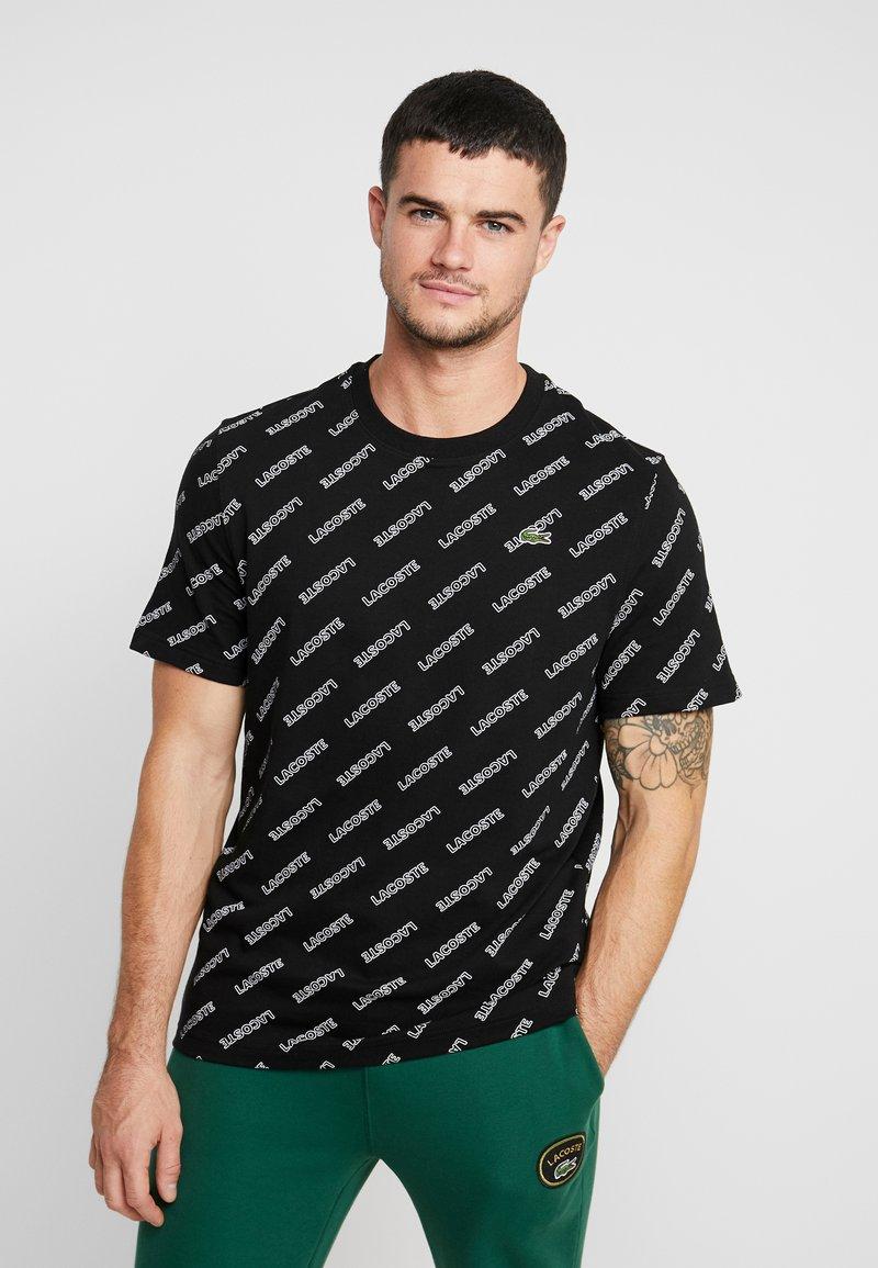 Lacoste LIVE - T-Shirt print - black/white