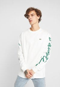 Lacoste LIVE - Long sleeved top - flour/green - 0