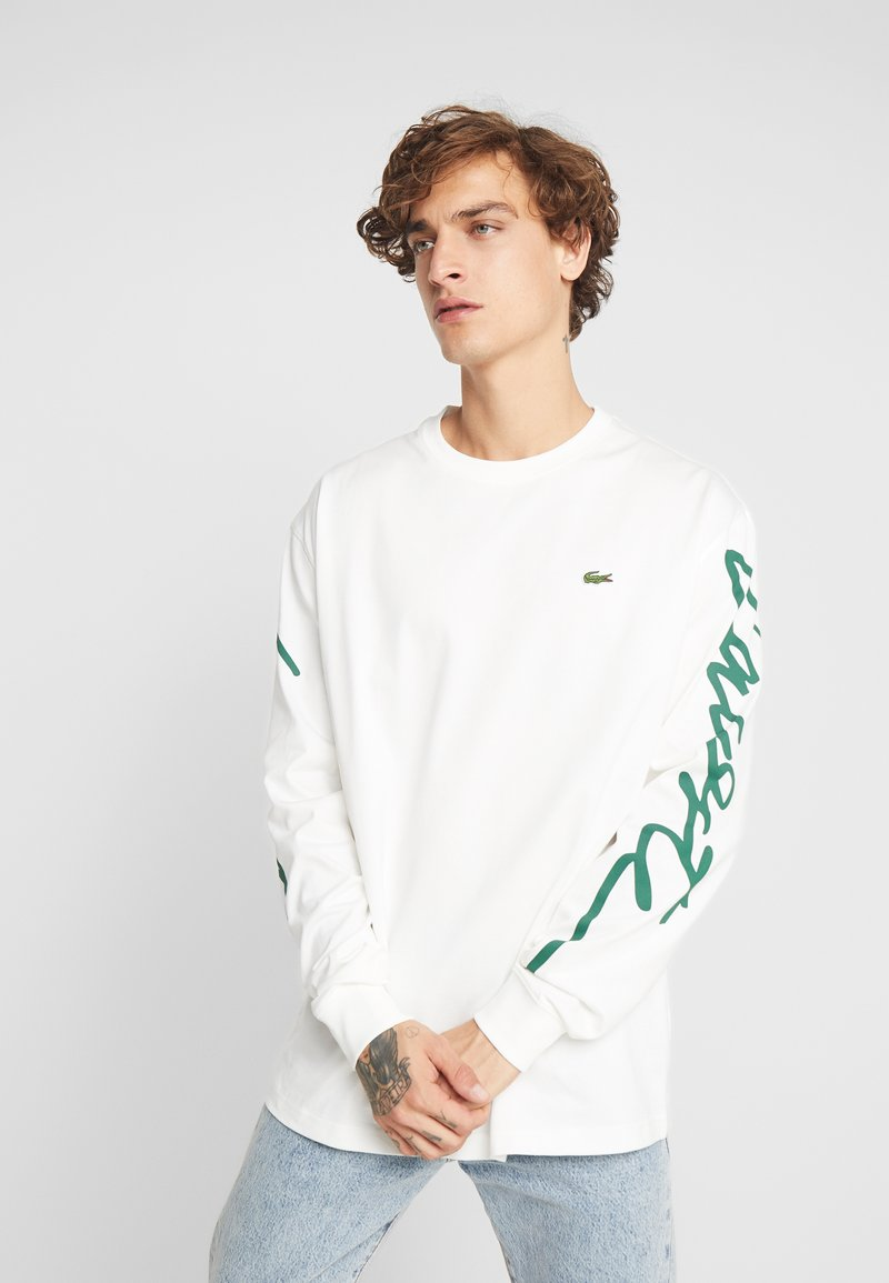 Lacoste LIVE - T-shirt à manches longues - flour/green