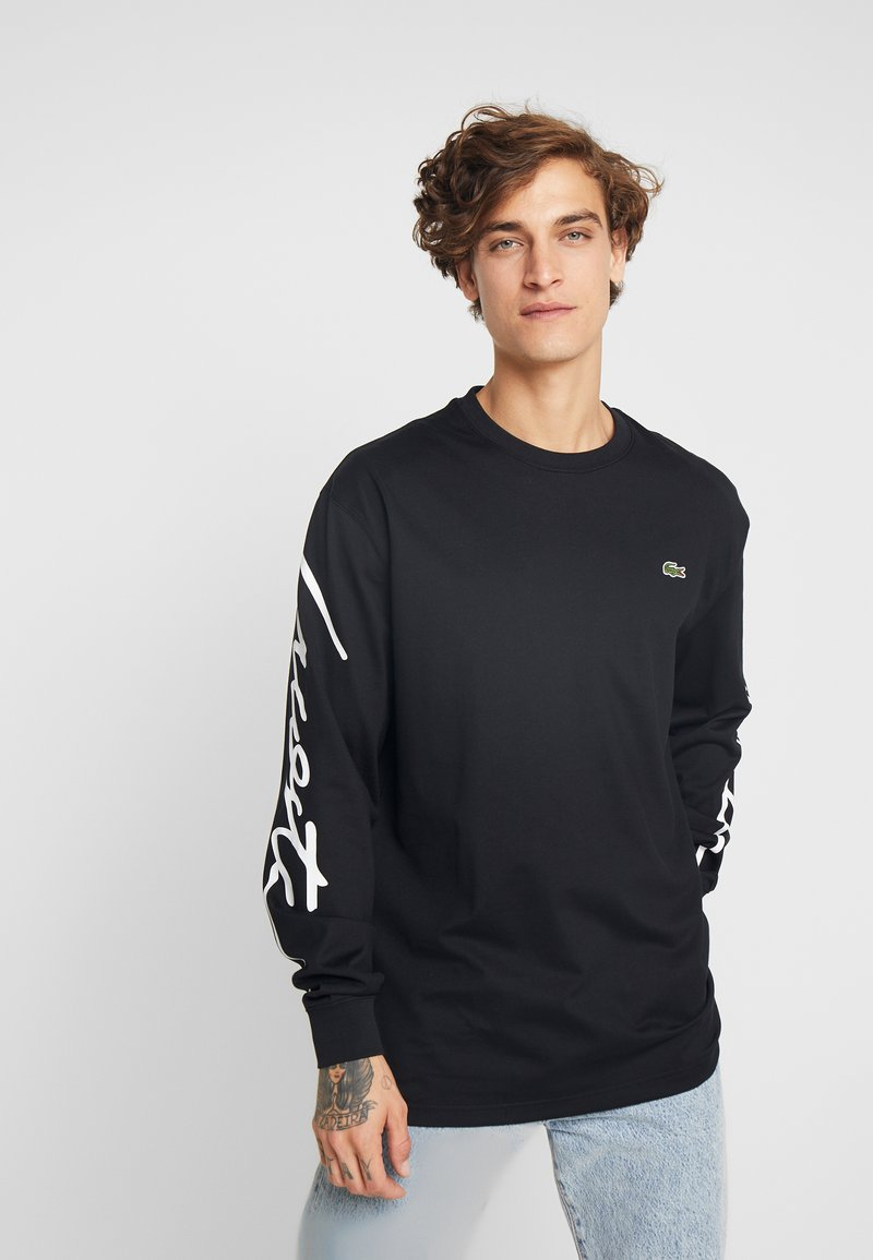 Lacoste LIVE - T-shirt à manches longues - black/white