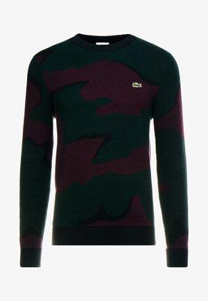 Stickad tröja - sinople/multicolour