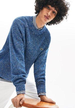 Pullover - bleu marine / blanc