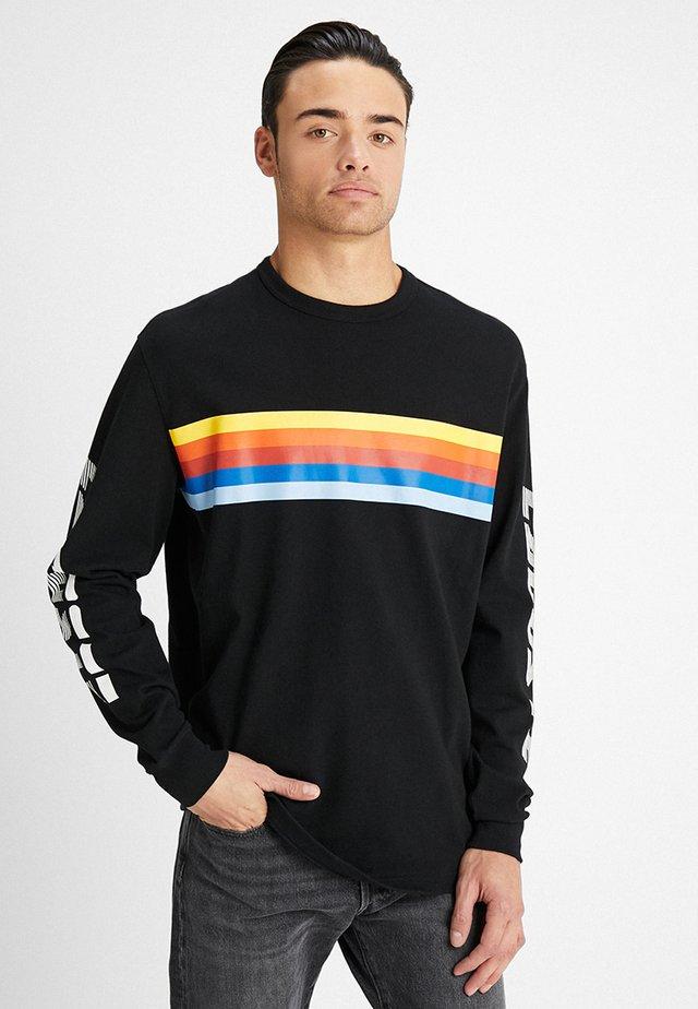 Maglietta a manica lunga - black/multicolour