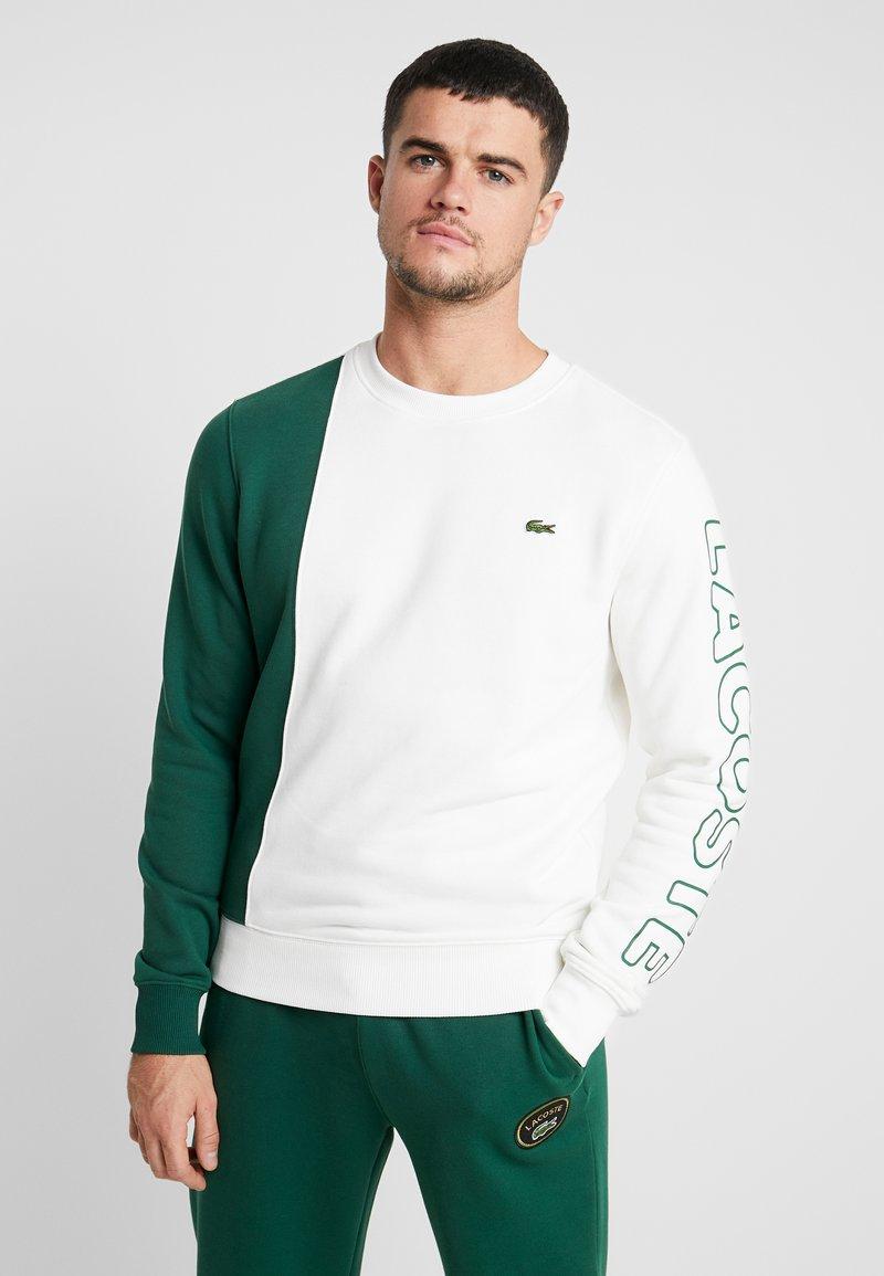 Lacoste LIVE - Sweatshirt - farine/vert