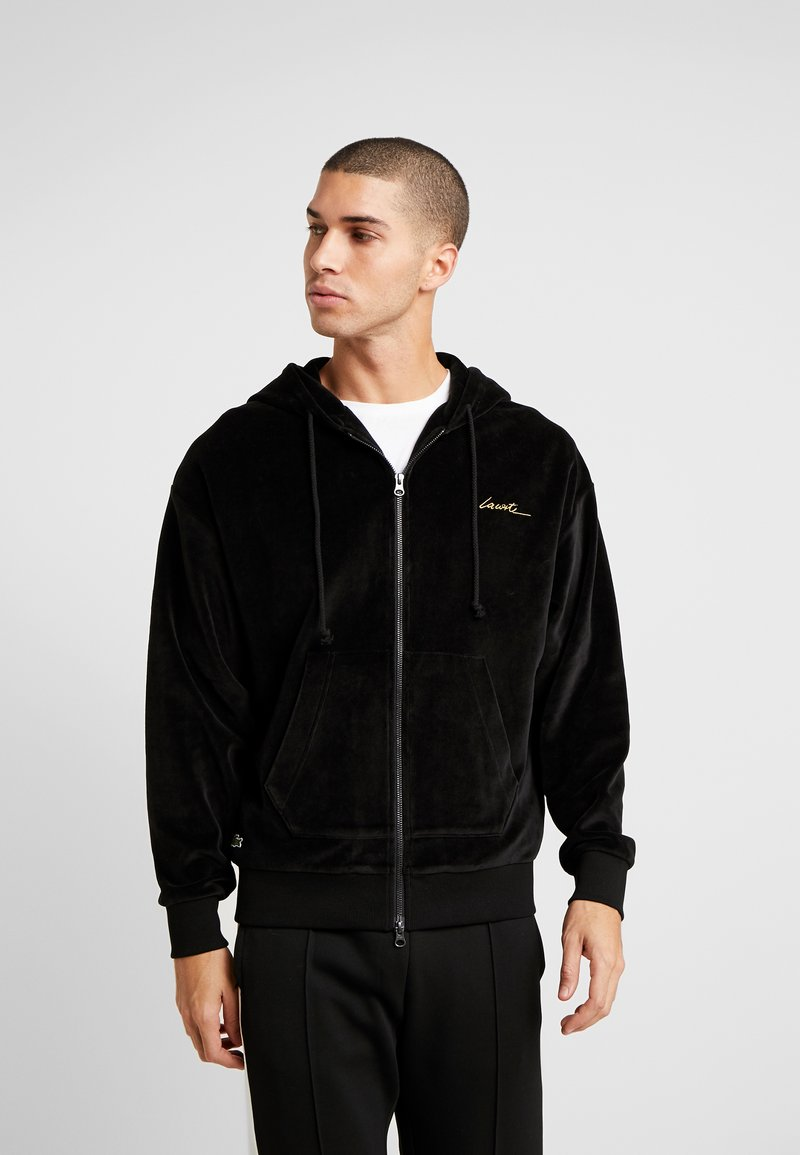 Lacoste LIVE - Zip-up hoodie - black