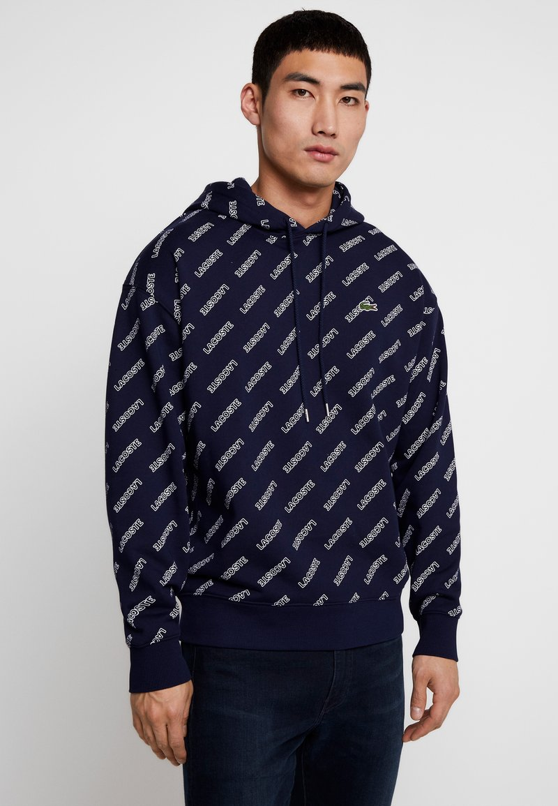 Lacoste LIVE - SH8151 - Hoodie - marine/blanche