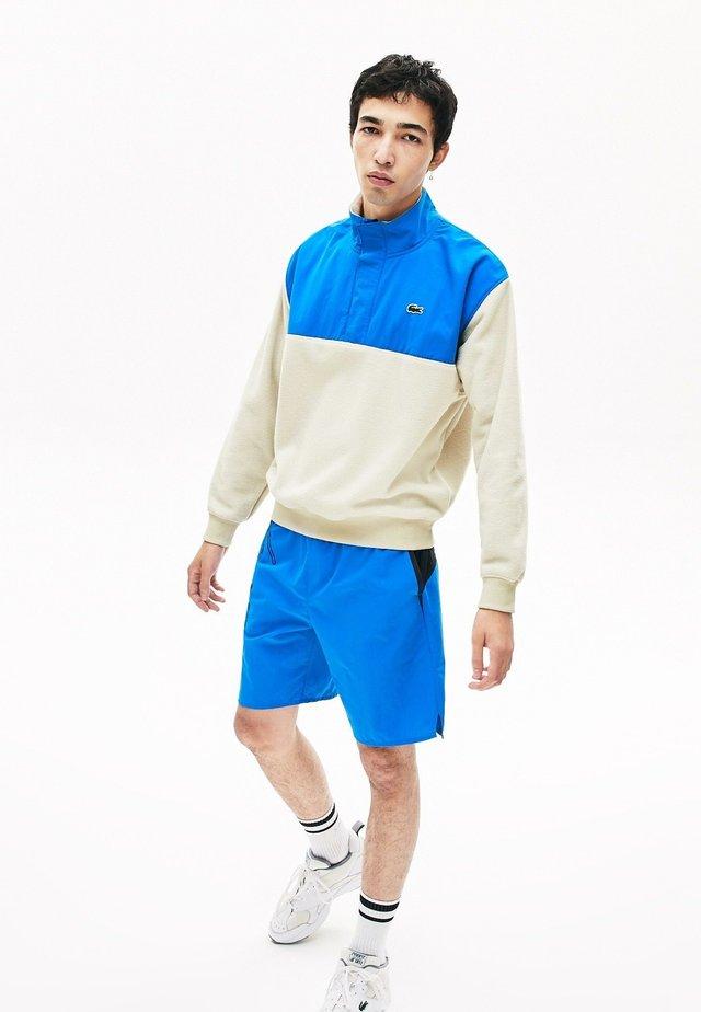 Sweatshirt - beige / blau