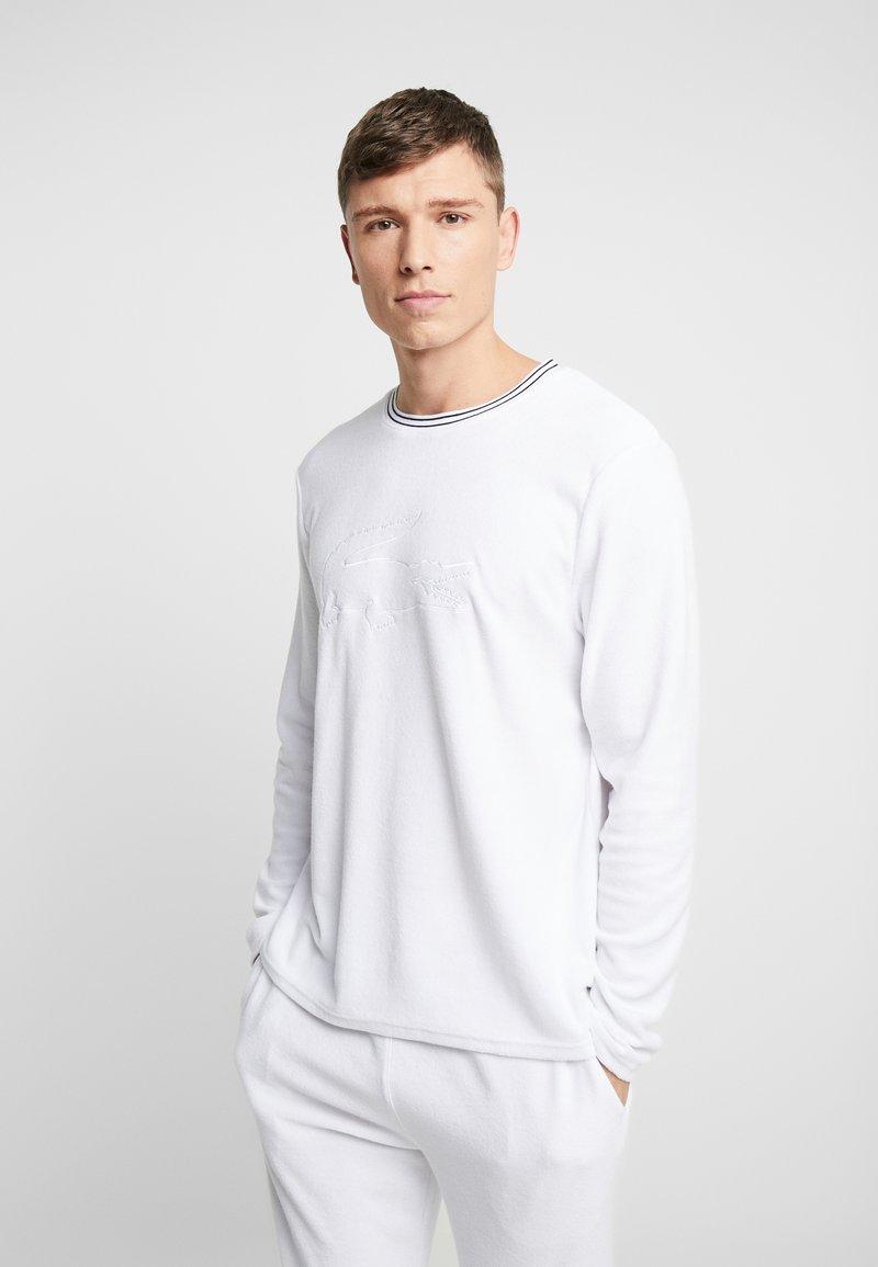 Lacoste - LONG SLEEVE CREWNECK - Camiseta de pijama - white