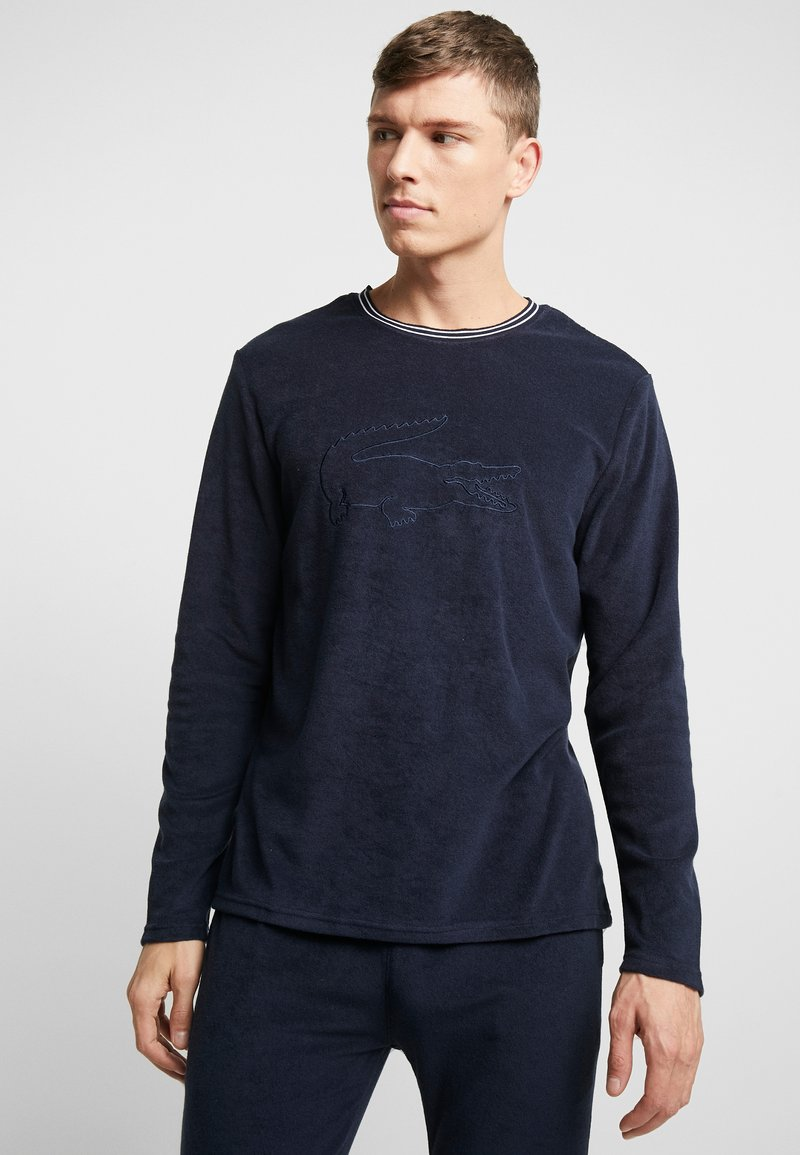 Lacoste - LONG SLEEVE CREWNECK - Camiseta de pijama - navy