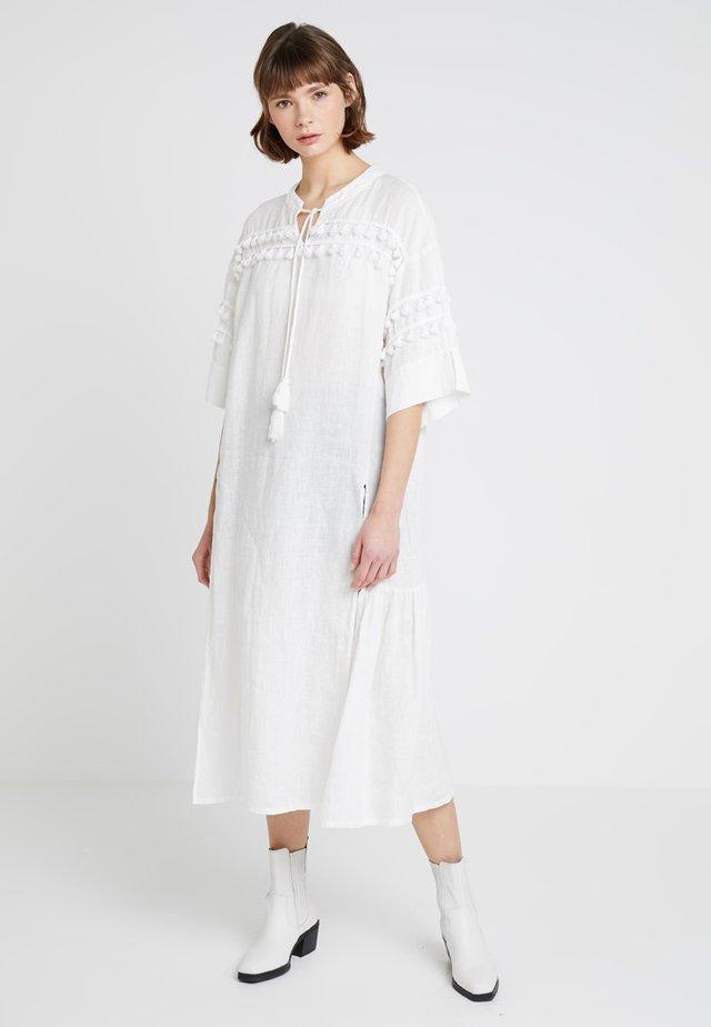TASSEL DRESS - Maxi dress - bright white