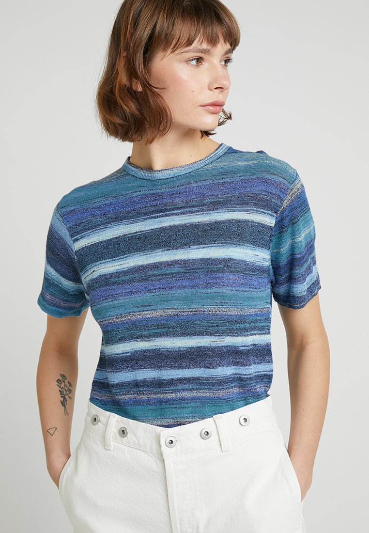 Levi's® Made & Crafted - BOY TEE - T-Shirt print - blue mirage blues