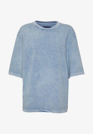 OVERSIZED SLEEVE TEE - Print T-shirt - copen blue wash