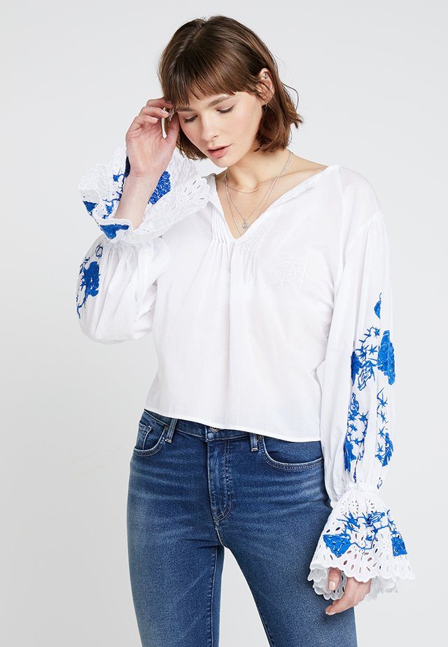 LMC FLOUNCE - Blouse - bright white
