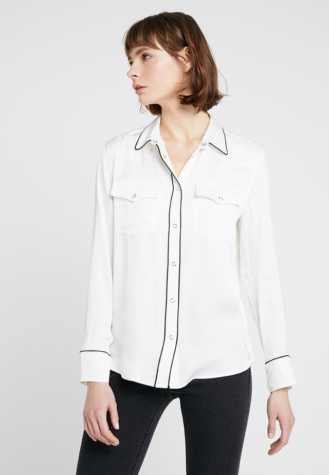 WESTERN  - Button-down blouse - white