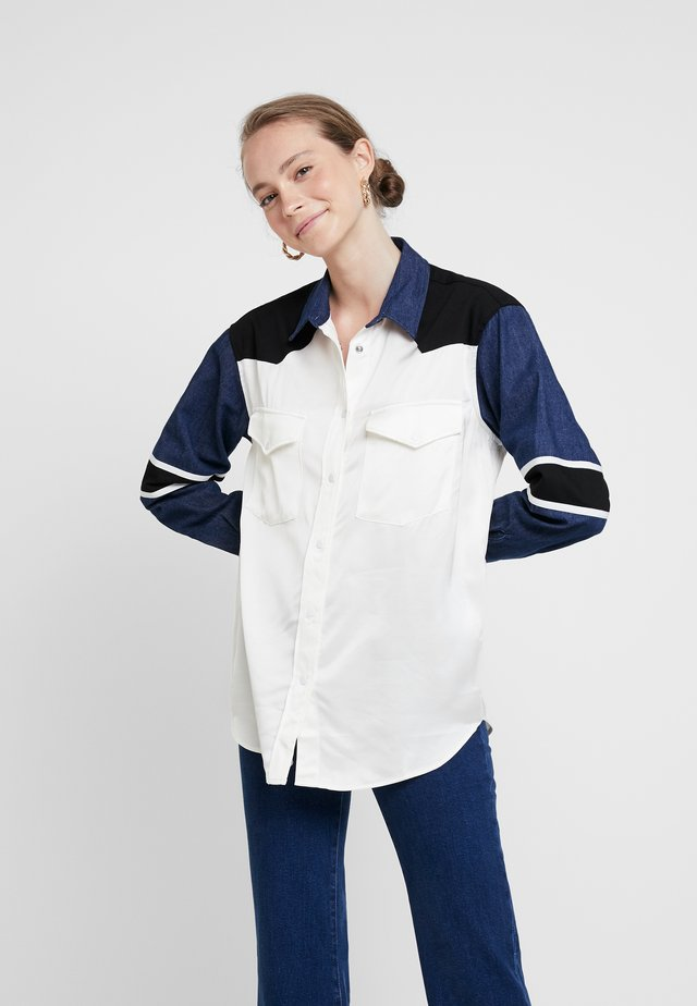 WESTERN MIX UP TOP - Button-down blouse - pristine