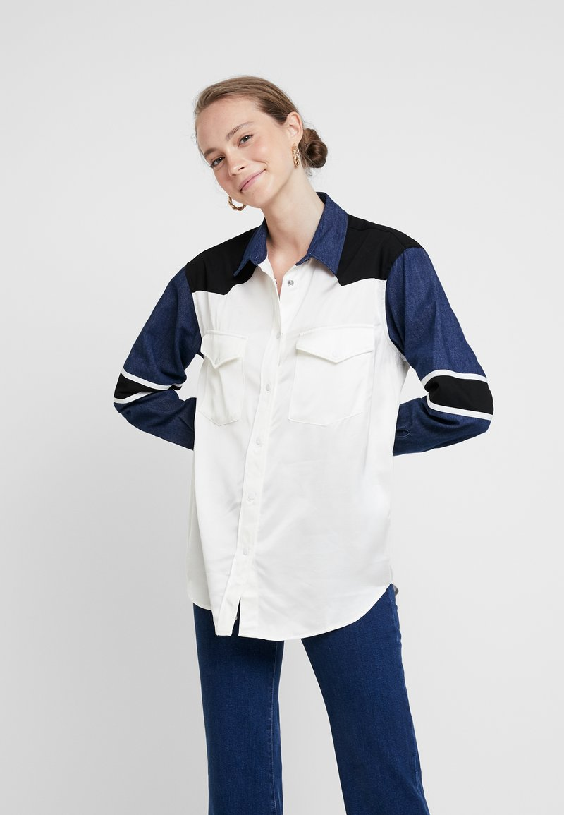 Levi's® Made & Crafted - WESTERN MIX UP TOP - Skjorta - pristine