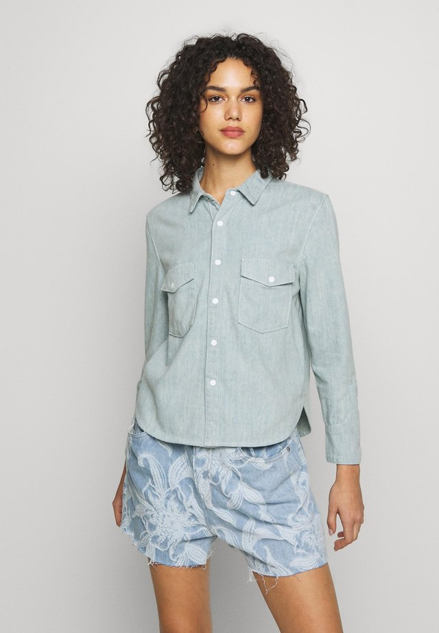 SHRUNKEN - Button-down blouse - blue mesa