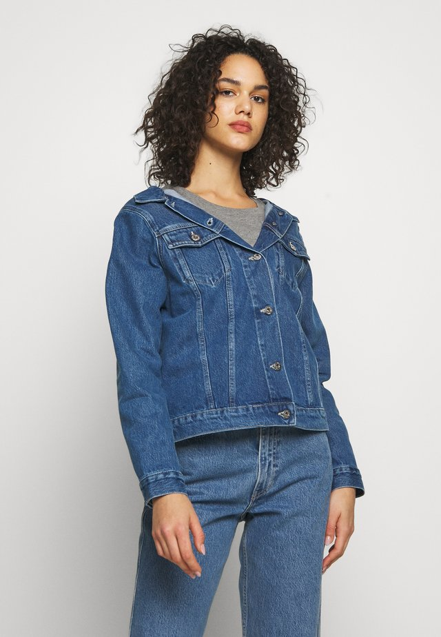 OFF THE SHOULDR - Denim jacket - blue denim