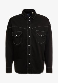 Levi's® Made & Crafted - OVERSIZED WESTERN - Košile - black denim - 4
