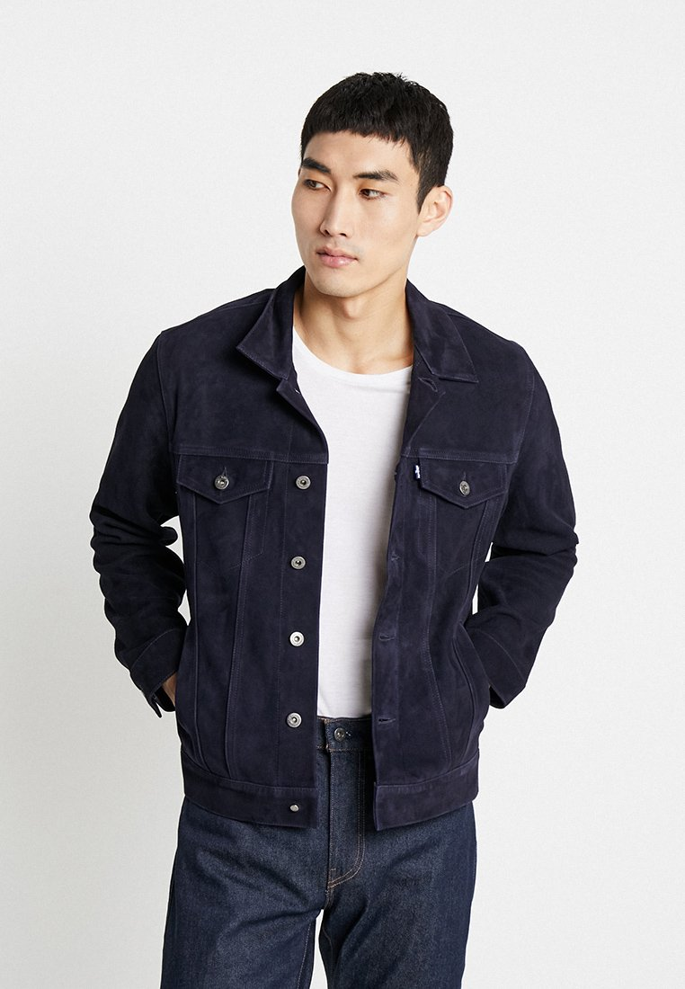 Levi's® Made & Crafted - LMC MENS TYPE III - Lederjacke - midnight