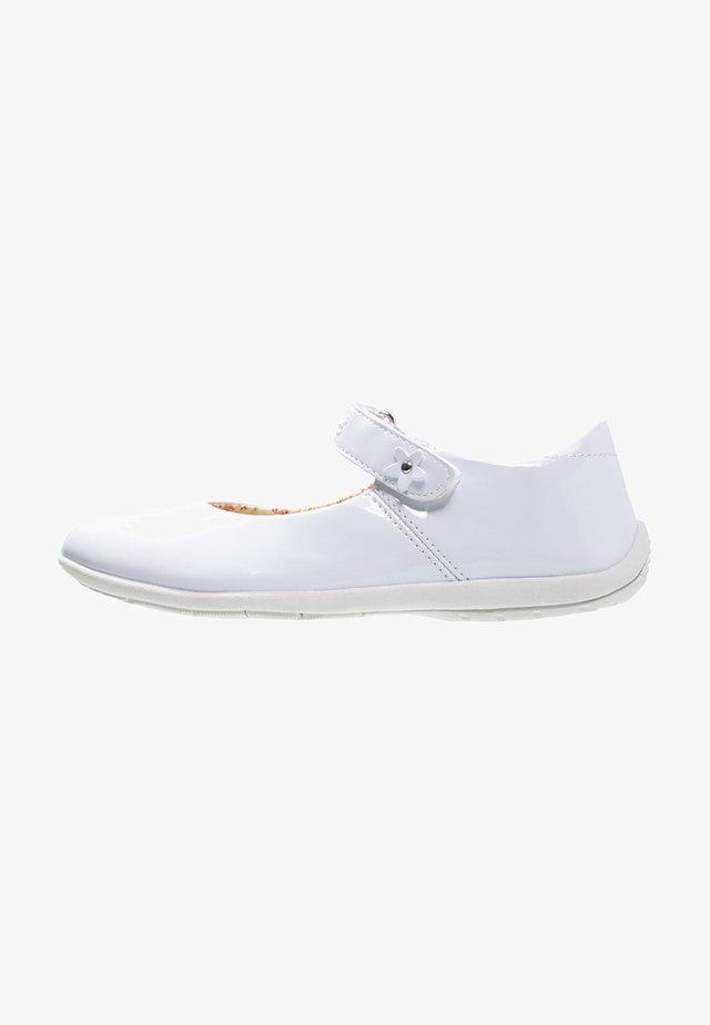 ANNA - Ballerina's met enkelbandjes - weiß