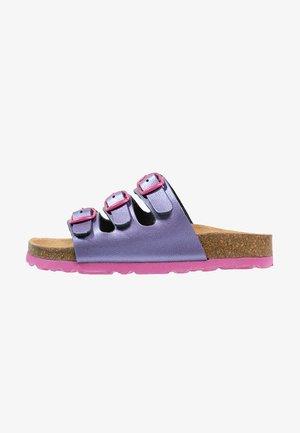 BIOLINE - Pantolette flach - lila/pink