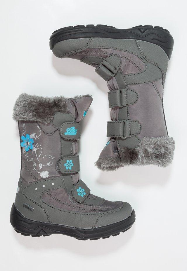 MARY  - Snowboots  - grau/türkis