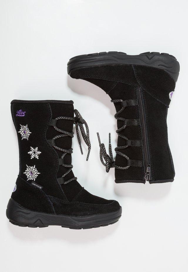ALESSIA - Snowboots  - schwarz/lila