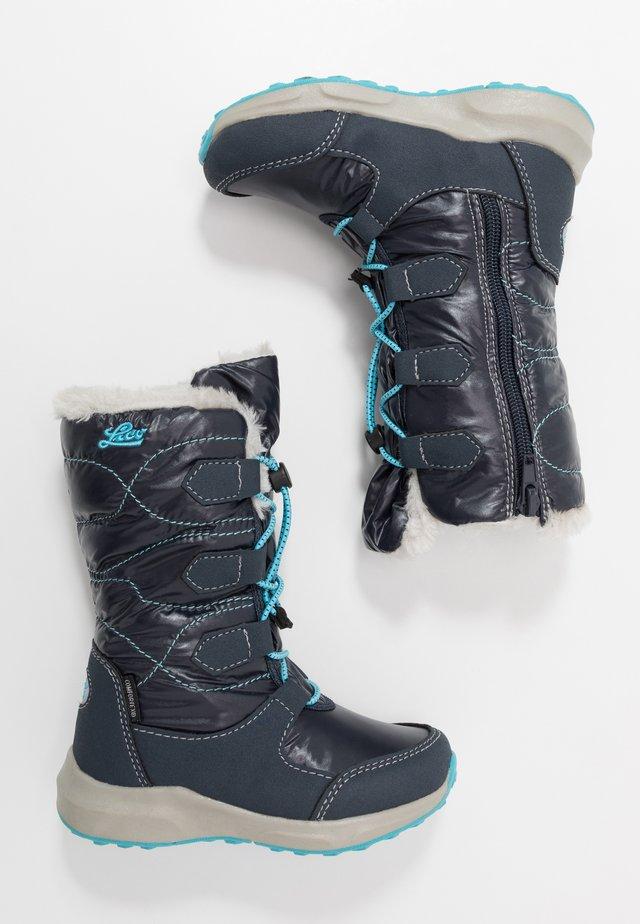 STINA - Snowboots  - marine/turkis