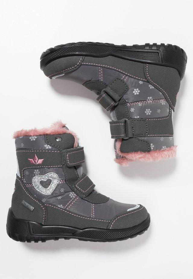 ANTONIA - Snowboots  - grau/rosa
