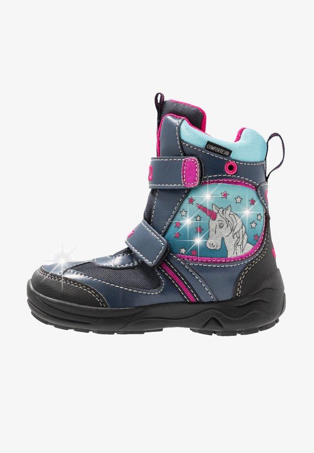 MAGIC BLINKY - Winter boots - marine/türkis/pink
