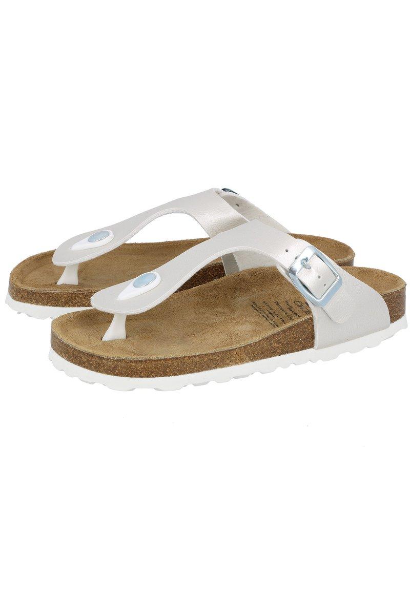 LICO - BIOLINE TREND  - T-bar sandals - silver-coloured