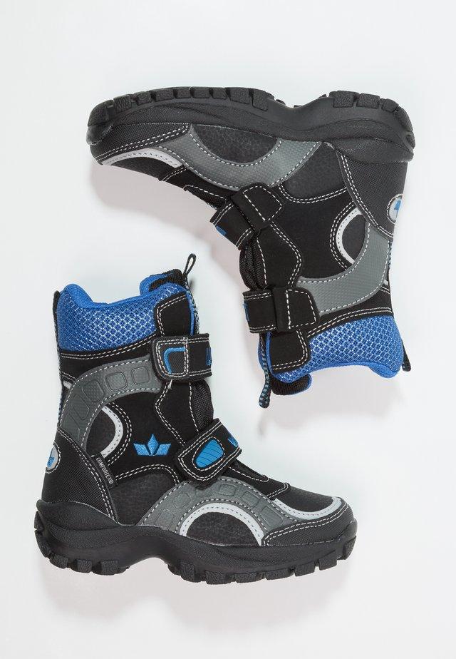 SAMUEL - Vinterstövlar - schwarz/grau/blau