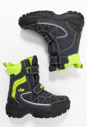 LUANO - Winter boots - marine/lemon