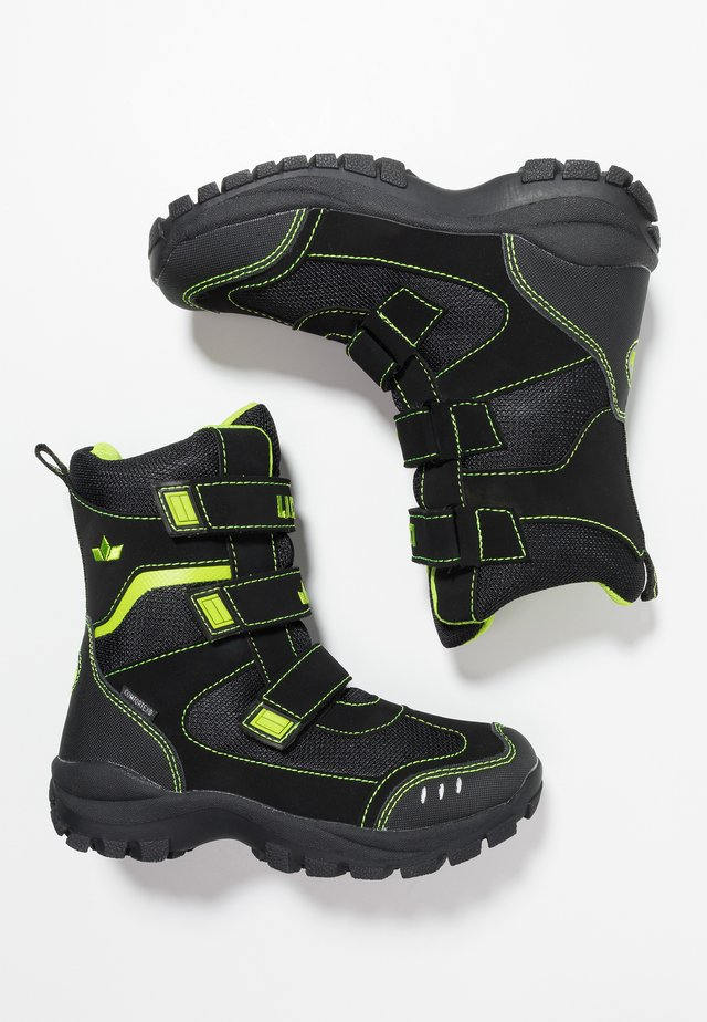 NANUK  - Snowboots  - schwarz/lemon