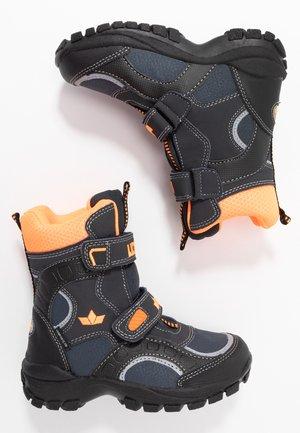 SAMUEL - Zimní obuv - marine/schwarz/orange