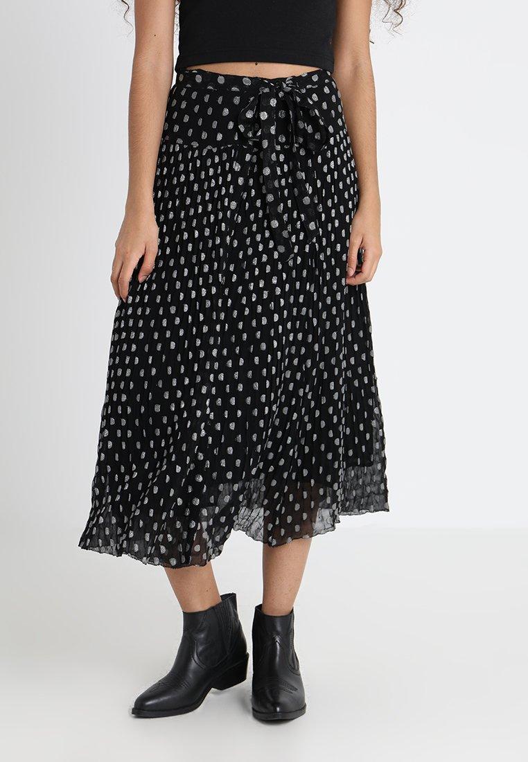 Leon & Harper - JUPE MIDI FEMME JAY - A-line skirt - black